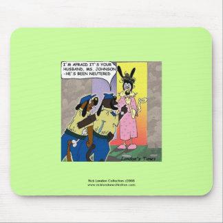 Tapis de souris drôle changé de bande dessinée de