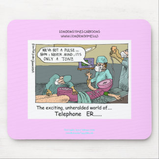 Tapis de souris drôle de bande dessinée bleue de c