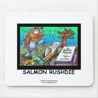 Tapis de souris drôle de poissons de Salman Rushdi
