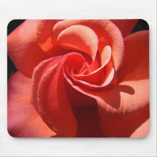 Tapis de souris en spirale rose beau ROS de cadeau