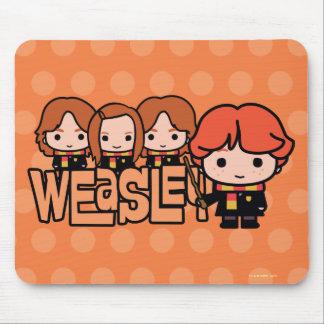 Tapis De Souris Graphique de Weasley Siblilings de bande dessinée