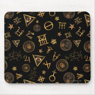 Tapis De Souris M.A.C.U.S.A. Symboles et motif magiques de crêtes