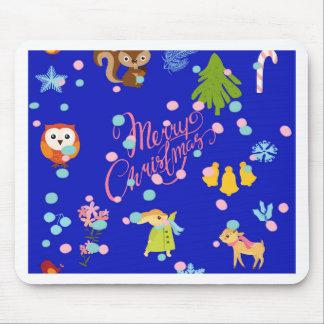 Tapis De Souris Marry Carte de voeux pattern blue