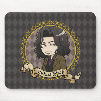 Tapis De Souris Noir de Sirius d'Anime