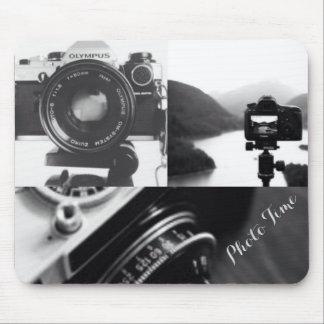 Tapis De Souris Typographie blanche noire de photographie