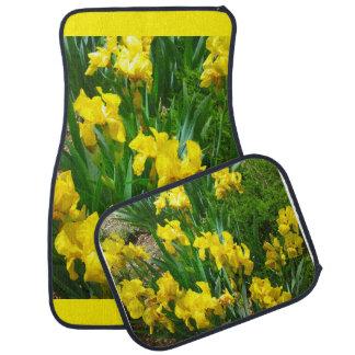 Tapis de voiture de correction d'iris jaune