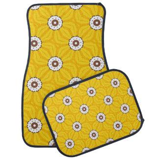 Tapis élégants de plancher de fleur tapis de voiture