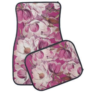 Tapis floraux de plancher de fleurs de fleurs de tapis de sol