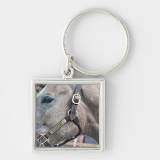 Tapit-Fashion Cat $750K Silver-Colored Square Keychain