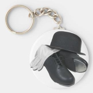 TapShoesBowlerGloves012511 Basic Round Button Keychain