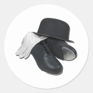 TapShoesBowlerGloves012511 Classic Round Sticker