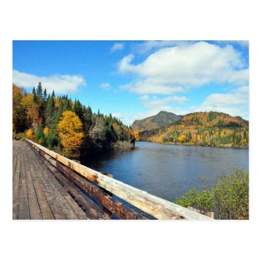 Tar Bridge Jacques Cartier Park Quebec Postcard