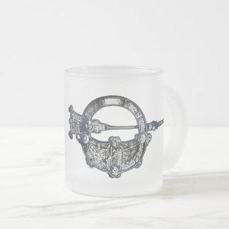 Tara Brooch, Ireland, Irish Heritage Frosted Glass Coffee Mug