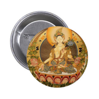 Tara (Female Buddha) 2 Inch Round Button