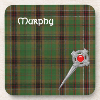 Tara Murphy Tartan Plaid and Celtic Knot Kilt Pin Coaster