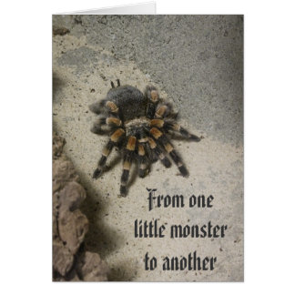 Tarantula Monster Birthday Card