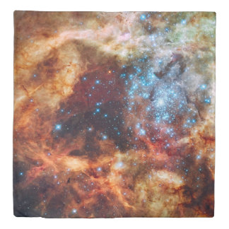 Tarantula Nebula (1 side) Queen Duvet Cover
