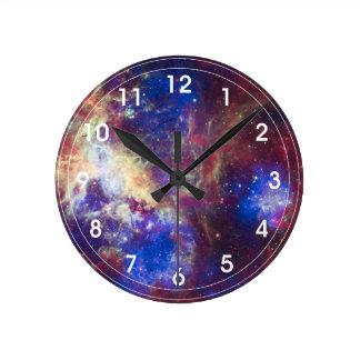 Tarantula Nebula - 30 Doradus Round Clock