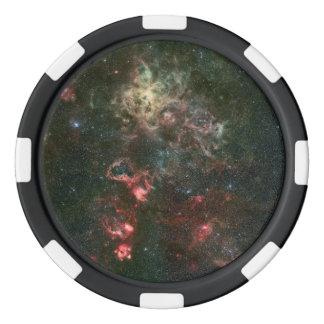 Tarantula Nebula and its surroundings Poker Chips