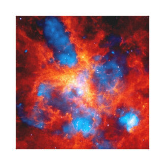 Tarantula Nebula Colorful Infrared Space Photo Canvas Print