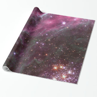 Tarantula Nebula in plum NASA Wrapping Paper