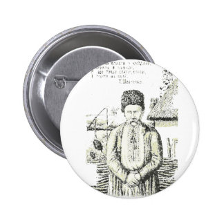 Taras Hryhorovych Shevchenko Ukrainian poet 2 Inch Round Button