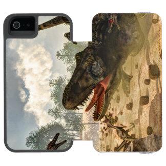 Tarbosaurus attacked by velociraptors incipio watson™ iPhone 5 wallet case