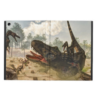 Tarbosaurus attacked by velociraptors iPad air cover
