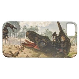 Tarbosaurus attacked by velociraptors iPhone 5 cases