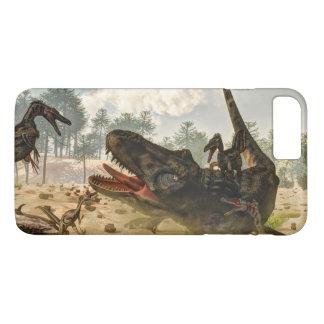 Tarbosaurus attacked by velociraptors iPhone 8 plus/7 plus case