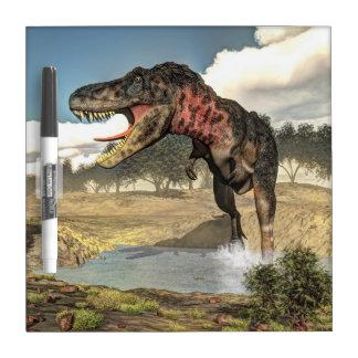 Tarbosaurus dinosaur - 3D render Dry Erase Board
