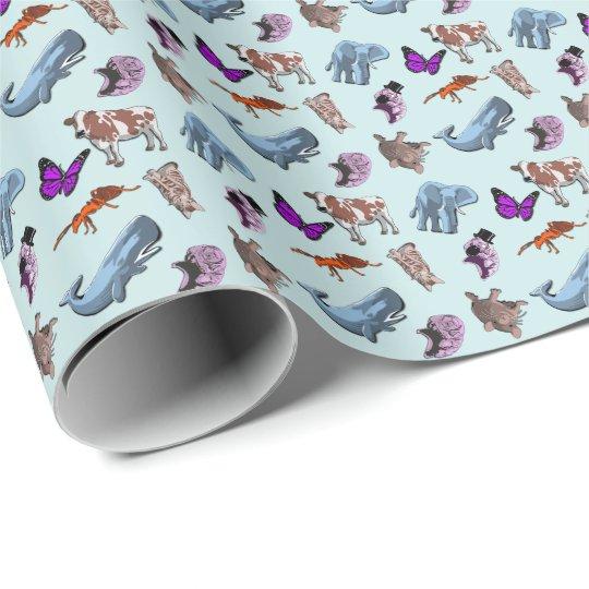 Tardigrade Animal Print Wrapping Paper