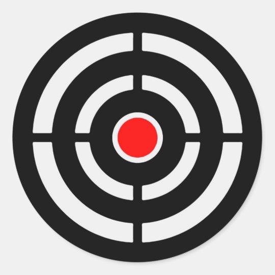 Target 2 classic round sticker