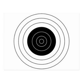 Shooting target postcards shooting target post card templates for Bullseye template printable