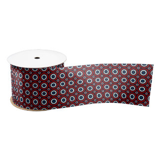 Target Bullseye-RED-WHITE-BLUE-SATIN RIBBON SPOOL Satin Ribbon