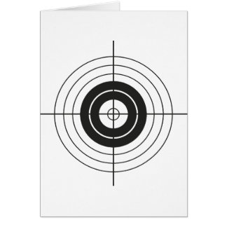 target circle design round mark card
