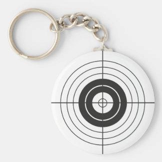 target circle design round mark keychain
