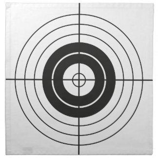 target circle design round mark napkin