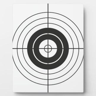 target circle design round mark plaque