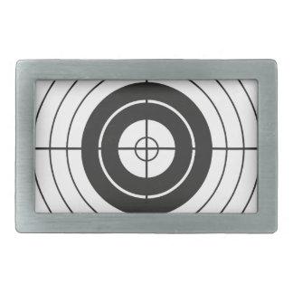 target circle design round mark rectangular belt buckles