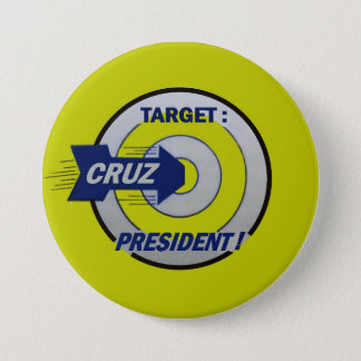 Target: Cruz for President 3 Inch Round Button