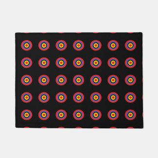 target dots on black door mat