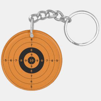 Target Double-Sided Round Acrylic Keychain