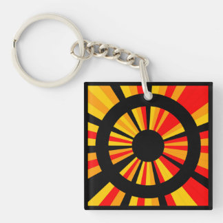 Target Double-Sided Square Acrylic Keychain