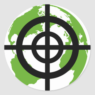 Target Earth Environment crossfades Classic Round Sticker