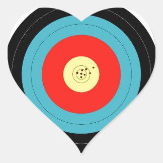 Target Heart Sticker