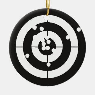 Target Practice Round Ceramic Ornament