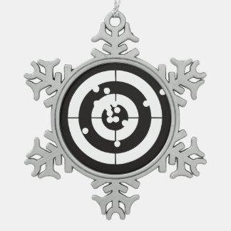 Target Practice Snowflake Pewter Christmas Ornament