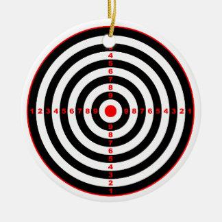 Target Round Ceramic Ornament