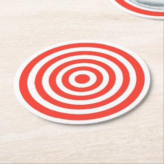 Target Round Paper Coaster